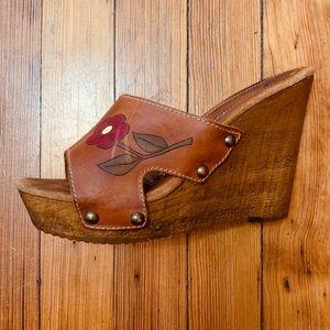 Sbicca Vintage Collection platform clog sandal 9